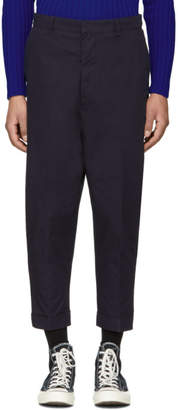 Ami Alexandre Mattiussi SSENSE Exclusive Navy Oversized Carrot Trousers