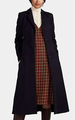 Lisa Perry Women's Circular-Pocket Wool-Blend Melton Coat - Navy
