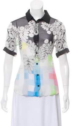 Preen by Thornton Bregazzi Silk Button-Up Top
