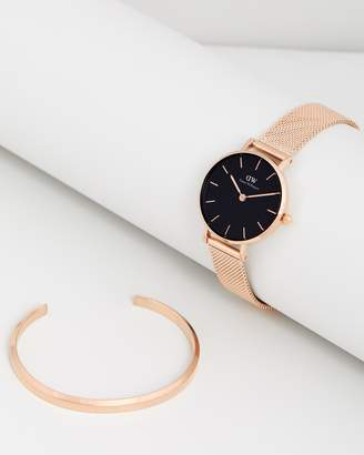 Daniel Wellington Petite Melrose 28mm & Cuff Gift Set