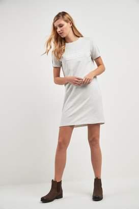 Barbour Womens International Grey Marl Morzine Logo T-Shirt Dress - Grey