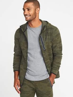 Old Navy Camo Dynamic Fleece 4-Way Stretch Zip Hoodie for Men