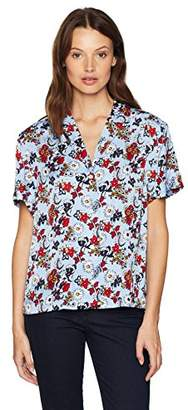 Calvin Klein Jeans Women's Floral Button Down Blouse