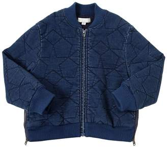 Stella McCartney Stars Quilted Denim Bomber Jacket