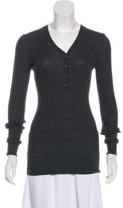Dolce & Gabbana Rib Knit Long Sleeve Top