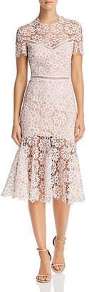 Saylor Illusion Lace Midi Dress