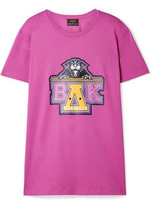 Balmain Beyoncé Coachella Printed Cotton-jersey T-shirt - Pink