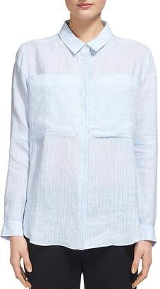 Whistles Claudia Stripe Shirt $219 thestylecure.com