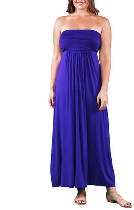 24/7 Comfort Apparel Tube Maxi Dress-Plus