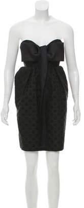 Stella McCartney Jacquard Strapless Dress