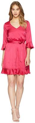 Bebe Blouson Dress w/ Pleats Women's Dress