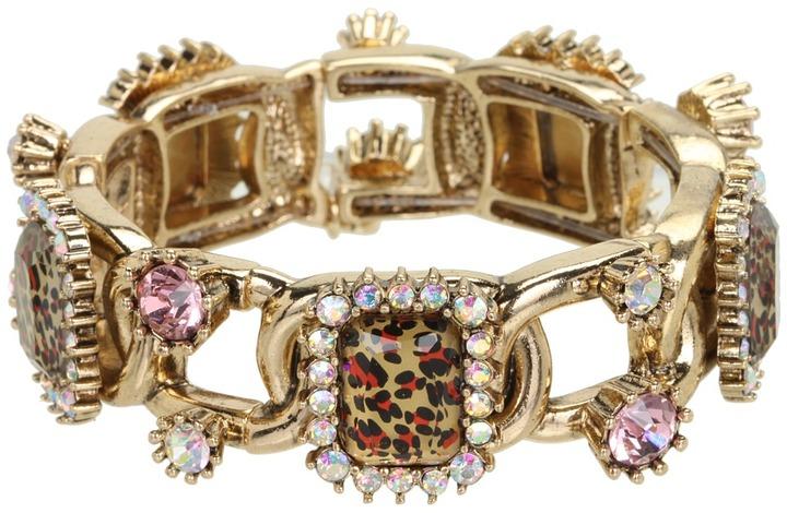 Betsey Johnson Leopard All Around Stretch Bracelet (Leopard) - Jewelry