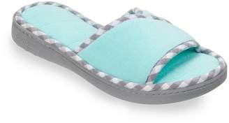 Dearfoams Women's Microfiber Terry Slide Slippers