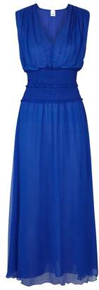 Pinko Blue Chiffon Maxi Dress