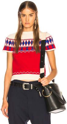 Maison Margiela Short Sleeve Cropped Sweater