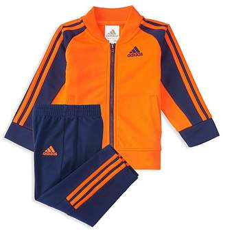 adidas Boys' Striped Jacket & Track Pants Set - Little Kid