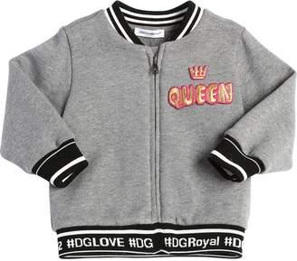 Dolce & Gabbana Queen Cotton Sweatshirt W/ Logo Hem