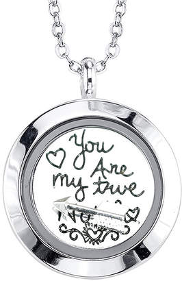 JCPenney FOOTNOTES TOO Footnotes Too You Are My True North Interchangeable Locket Pendant Necklace