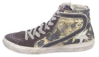 Golden Goose Floral High-Top Sneakers