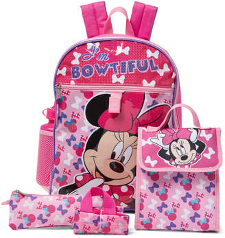Disney Girls 4-6x) 5-Piece Minnie Mouse Backpack Set