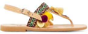 Mabu By Maria Bk Aeesha Embellished Leather Sandals