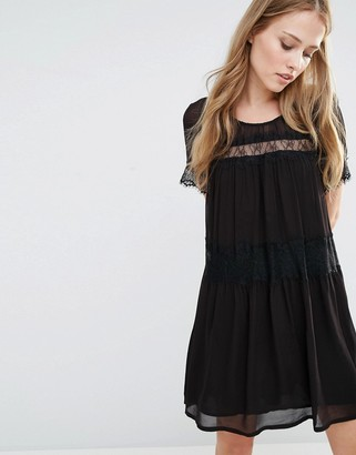 French Connection Rosie Lace Smock Dress $166 thestylecure.com