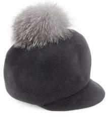 Circa Fox Fur Pom Velour Felt Cap