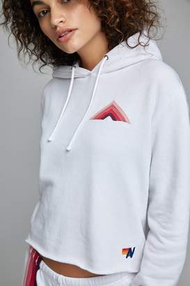 Aviator Nation Pullover Hoodie With Raw Edge