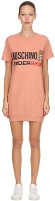 Moschino Underbear Cotton Sweatshirt Dress