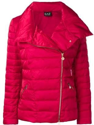 Emporio Armani Ea7 oversized collar puffer jacket