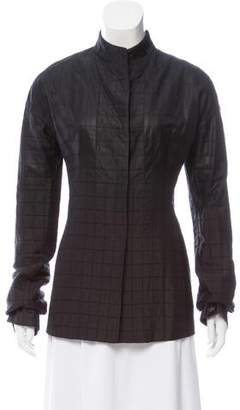 Narciso Rodriguez Quilted Long Sleeve Jacket
