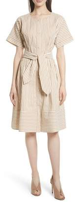 GREY Jason Wu Vintage Stripe Stretch Cotton & Linen Dress