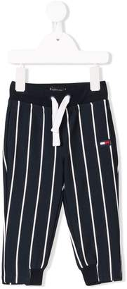 Tommy Hilfiger Junior drawstring striped trousers