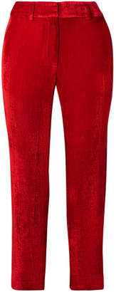 Sies Marjan - Willa Cropped Silk And Cotton-blend Corduroy Straight-leg Pants - Red