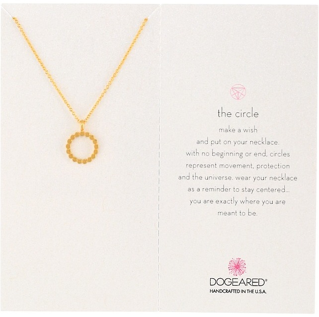 Dogeared - The Open Dotted Circle Pendant Necklace Necklace