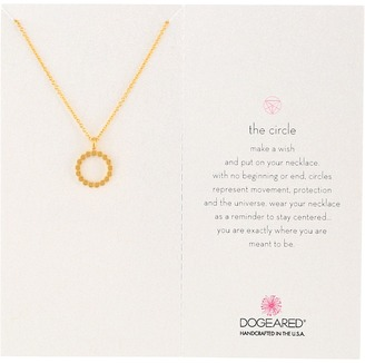 Dogeared - The Open Dotted Circle Pendant Necklace Necklace $48 thestylecure.com