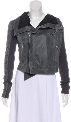 Veda Leather Zip-Up Jacket