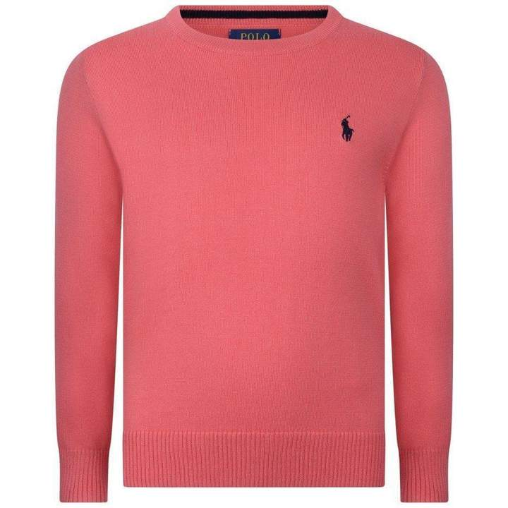 Ralph Lauren Cruise Collection Boys Red Pima Cotton Sweater