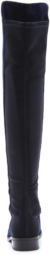 Stuart Weitzman 5050 Stretch Suede Boots