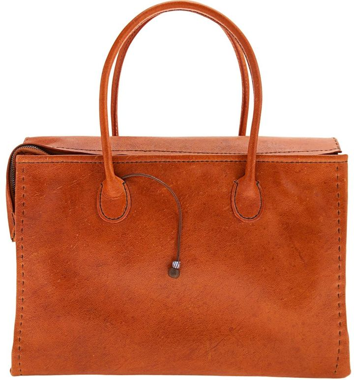 Henry cuir Parade Tote - Orange