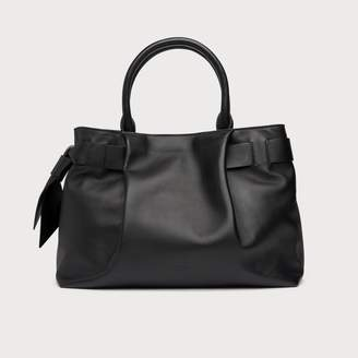 LK Bennett Gemma Black Leather Tote Bag