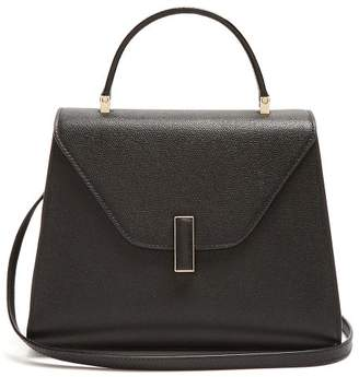 Valextra Iside Medium Grained Leather Bag - Womens - Black