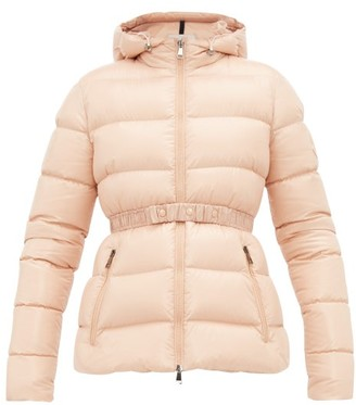 Moncler Rhin Lacquered Quilted Down Jacket - Womens - Light Pink
