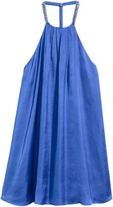 H&M Satin Dress with Studs - Blue