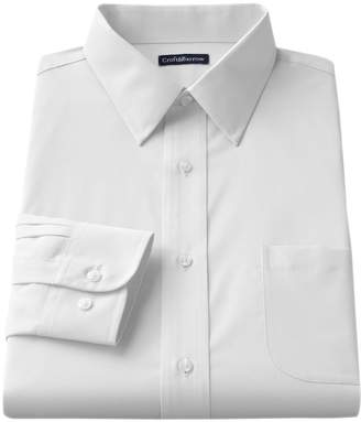 Croft & Barrow Big & Tall Solid Broadcloth Point-Collar Dress Shirt