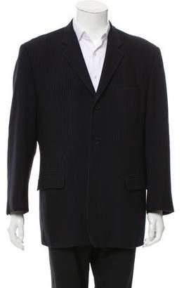 Versace Striped Wool-Blend Blazer
