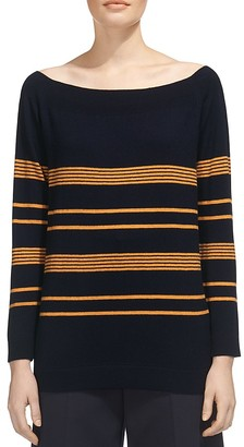Whistles Striped Bardot Sweater $219 thestylecure.com