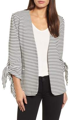 Olivia Moon Tie Sleeve Knit Blazer