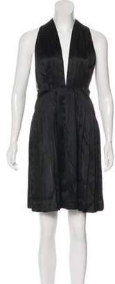 Stella McCartney Satin Pleated Mini Dress