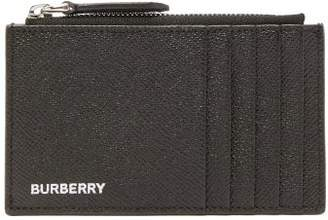 Burberry Alwyn Grained Leather Zipped Cardholder - Mens - Black